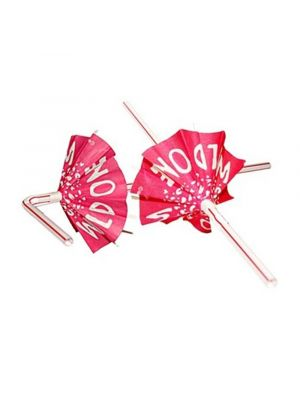 Bride to Be Umbrella Straws