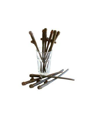 Brown Pecker Straws