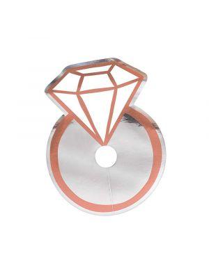 Diamond Ring Wine Glass Tags