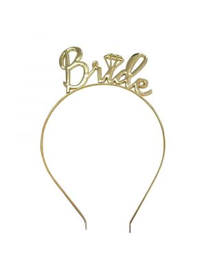 Gold Bride Headband