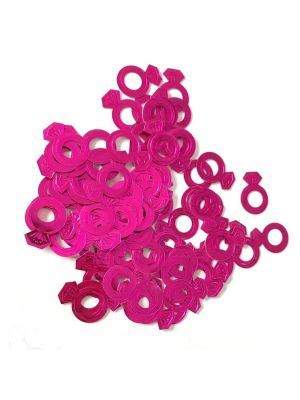 Hot Pink Diamond Ring Confetti