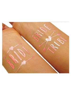 Rose Gold Bride Hens Party Tattoos