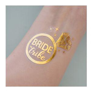 Gold Bride Tribe Diamond Ring Tattoo