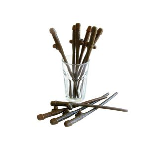 Brown Pecker Straws