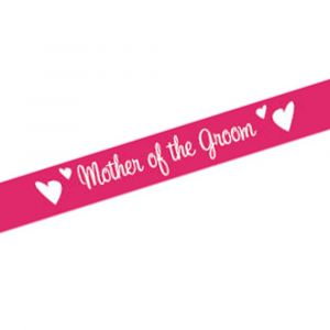 Pink Mother of the Groom Sash