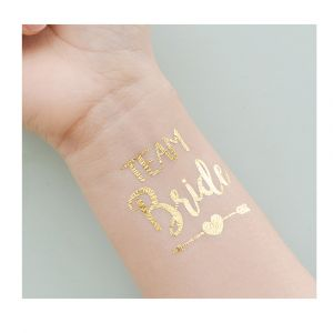 Gold Team Bride Arrow Tattoo