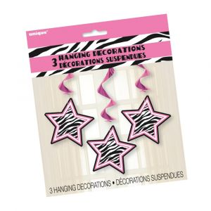 Zebra Star Hanging Decorations